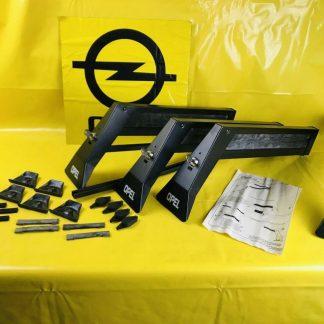 NEU + ORIGINAL Opel Omega A Skiträger Dachträger Skihalter mit Logo abschließbar