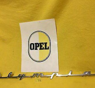 NEU+ORIG Opel Olympia Bj 1956 Emblem Schriftzug Chrom auf Kotflügel OVP NOS
