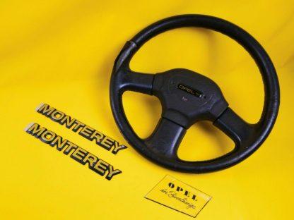 NEU + ORIGINAL Opel Monterey Emblem + Lenkrad zum Aufarbeiten