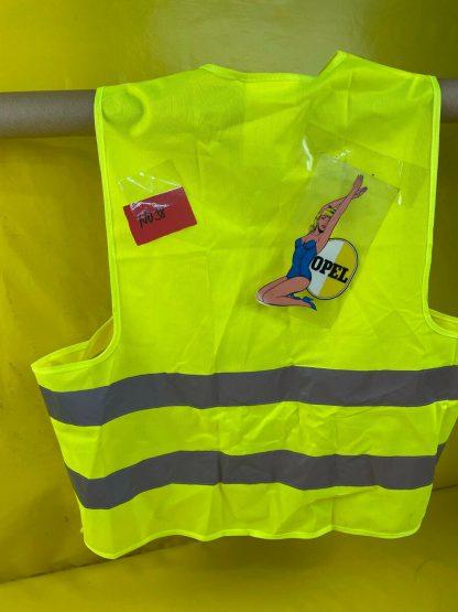 NEU 10x Warnweste Unfallweste neon gelb KFZ Auto Sicherheitswesten