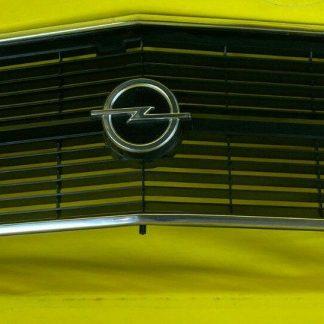 NEU + ORIGINAL Opel Rekord D Limousine + Kombi Kühlergrill Chrom Emblem