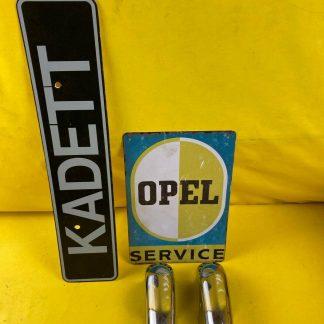 GEBRAUCHT + ORIGINAL Opel Kadett A Stoßstange Horn chrom Hörner Stoßfänger Paar