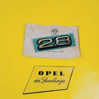 NEU + ORIG Opel Monza Senator A Emblem 2.8 chrom Heckklappe Kofferdeckel
