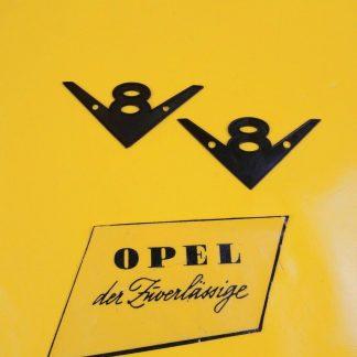 NEU Opel Diplomat B V8 Unterlage Emblem Kotflügel 5,4