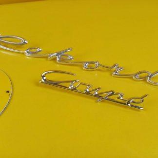 NEU + ORIGINAL Opel Rekord A Coupe Schriftzug Chrom auf Kotflügel