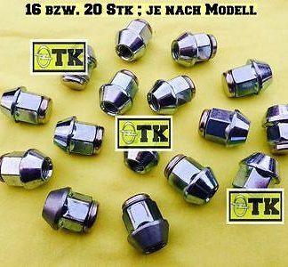 OPEL Radmutter Satz Chrom M12x1,5 Oldtimer Youngtimer CiH OHV Kegelbund SW19 NEU