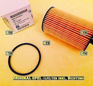 ORIGINAL OPEL Ölfilter Motorfilter Öl Filter inkl. Dichtung Kit Filter GM