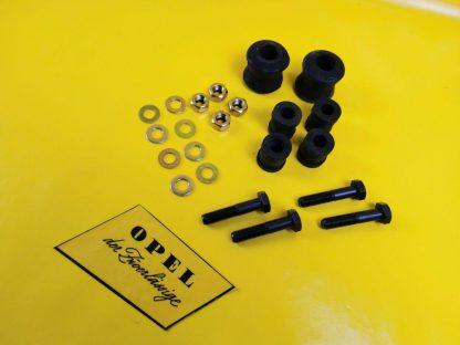 Opel GT 1,1 + 1,9 Olympia A Satz Stabilager Hinterachse Panhardstab Schrauben