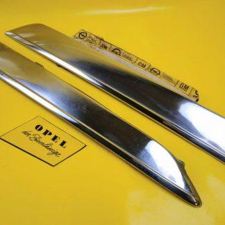 NEU + ORIG Opel Rekord D / Commodore B Chrom Paar Zierleisten Seitenteil hinten