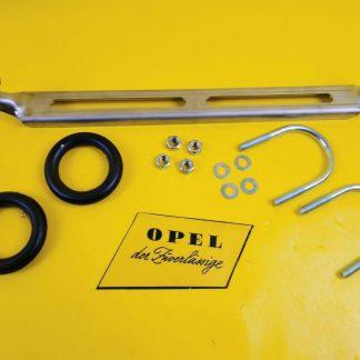 NEU Opel GT 1,9 1,1 AL Auspuff Halter Edelstahl Gummis Schellen Endtopf