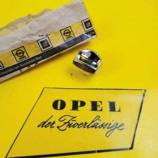 NEU + ORIGINAL Opel Commodore B Coupe Chrom Handschuhfachknopf Drehknopf