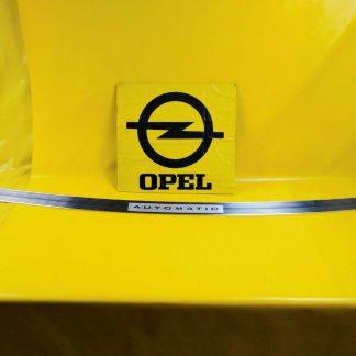 NEU ORIGINAL Opel Kapitän Admiral A Zierleiste Chrom Schriftzug '' Automatic ''