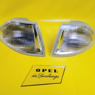 NEU Satz / Paar weiße Blinker Opel Astra F Blinkerleuchte weiß Indikator re + li
