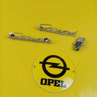 Gebraucht Opel Rekord A Coupe R3 Emblem Schriftzug Chrom auf Kotflügel