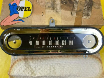 NEU + ORIGINAL Opel Kadett A Tacho Chrom Blende Tachoeinheit Walzentacho