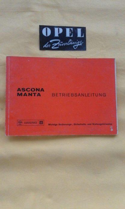 ORIGINAL OPEL Betriebsanleitung Handbuch Serviceheft Manta B Ascona B
