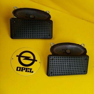 NEU + ORIGINAL Opel Monza Lautsprecher Satz mit Blenden Box Boxen