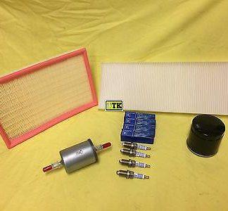 Inspektion Set OPEL Vectra B 1,8 X18XE Zündkerzen Luftfilter Filter Benzinfilter