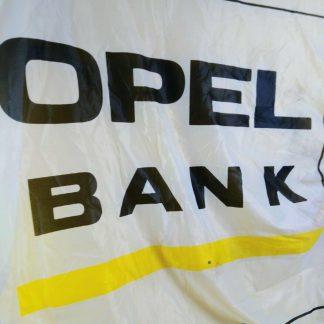 ORIGINAL OPEL Fahne Reklame Werbung RAR SELTEN OPEL BANK
