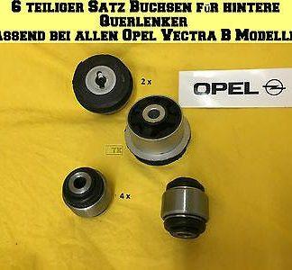 NEU 6 teiliger Satz Buchsen f Querlenker hinten für alle Opel Vectra B Modelle