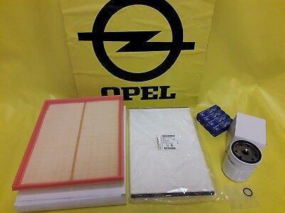 NEU + ORIGINAL Opel Inspektionskit Astra H Filter Dichtung Zündkerze