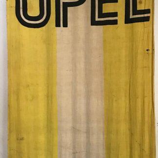 ORIGINAL OPEL Flagge Fahne Vorkrieg ? Reklame Werbung Fahne Logo RARITÄT SELTEN