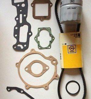 NEU + ORIG Opel Ascona B 2.0 E Motordichtungen Dichtsatz Keilriemen Ölfilter CiH
