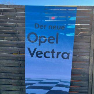 NEU + ORIGINAL Opel Vectra C Fahne 3-teilig Werbung Reklame
