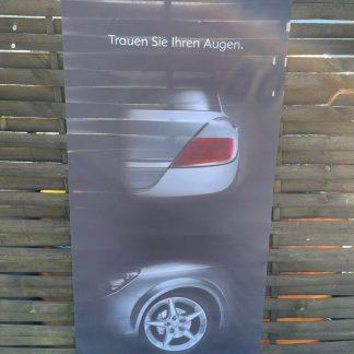 NEU + ORIGINAL Opel Astra H Fahne Werbung Reklame