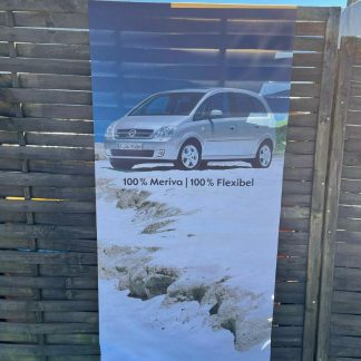 NEU + ORIGINAL Opel Meriva Fahne Werbung Reklame