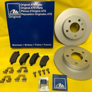 NEU ORIGINAL ATE SATZ Bremsscheiben + Beläge + Paste hinten für Opel Astra H
