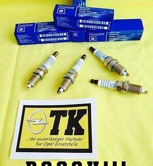 4x Zündkerze Tigra B 1,4 L FQR8LE2 Twin Top Z14XEP #90466099 NEU