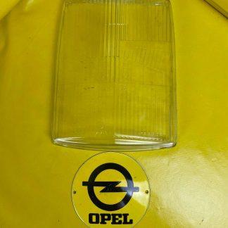 """NEU + ORIGINAL Opel Diplomat Streuscheibe Glas Scheinwerfer """" stehend"""" NOS"""