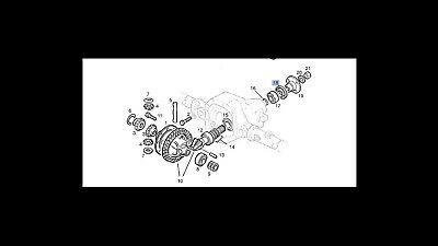 OPEL Dichtring Simmerring Hinterachs Getriebe Frontera 2,0 2,4 C20NE C24NE 23TD
