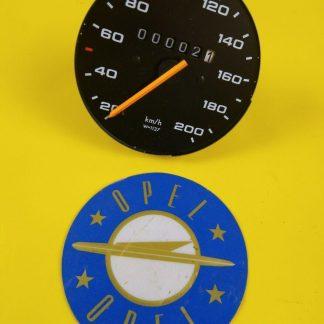 NEU + ORIGINAL Kadett D Tacho Tachometer Cockpit Km/h Wegdrehzahl = 1137