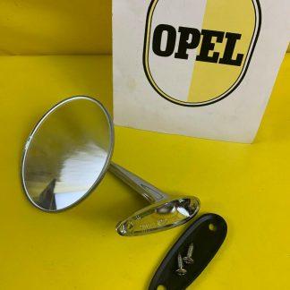 NEU + ORIGINAL Chrom Opel Spiegel links Rekord C Commodore A Kadett B GT Oly A