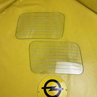 NEU & ORIGINAL Opel Senator A Monza A NSW Glas Scheibe Schutzscheibe Nebelscheinwerfer