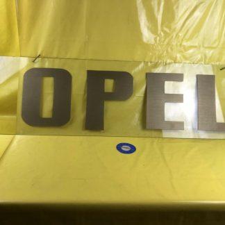 Opel Reklame Scheibe Werbung Schriftzug Logo Oldtimer Schild Glasscheibe Scheibe