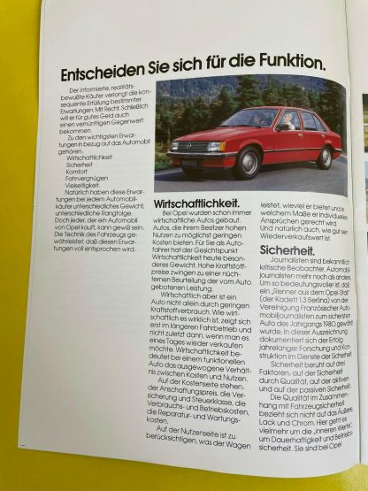ORIGINAL Opel Werbemappe Zeitung Rekord E Manta B Kadett D Monza Ascona B