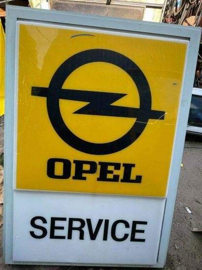 ORIGINAL Opel Beleuchtung Reklametafel Werbung Leuchtreklame Schild Tafel