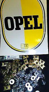 NEU ORIG OPEL Befestigungsset 30 x Kotflügel SKT-Schraube + Unterlegscheibe CiH