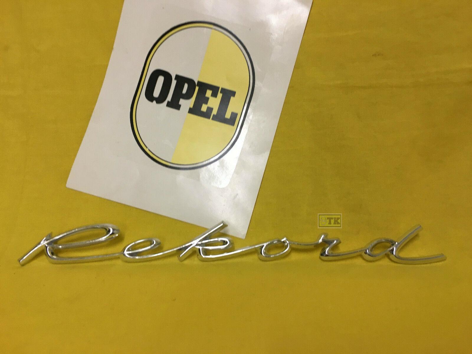 Neu Orig Opel Rekord A B Emblem Schriftzug Limousine Coupe Kombi Chrom Neuteil