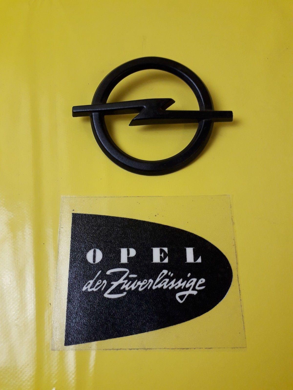 Neu Original Opel Kadett C Sr Gte Opel Emblem Schwarz Motorhaube